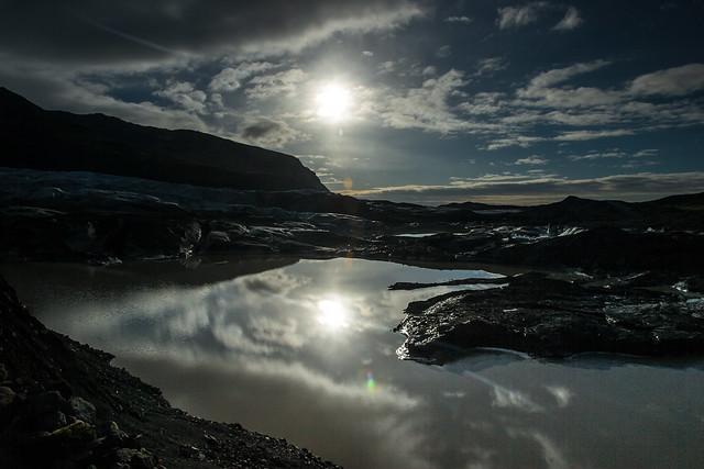 Svínafells glacier  (swee-na-fell-s-jo-kull)