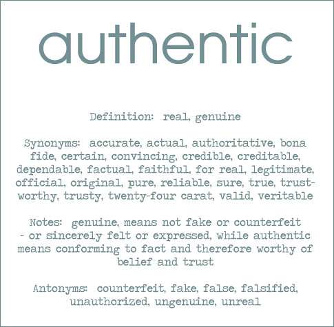 authentic | by poshdee