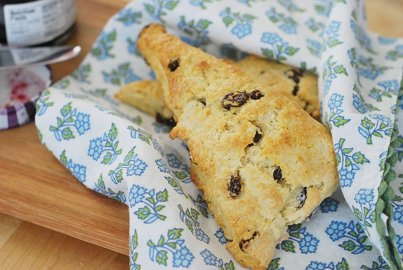 Irish Soda Bread Scones - everything you love about Irish Soda Bread in a buttery, flaky scone! The perfect St. Patrick's Day breakfast.