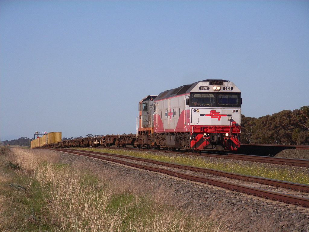 G532 and T386 on the new Elzorro mineral sands train 9767 at Manor Loop by bukk05