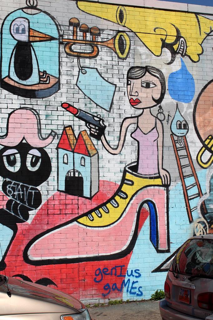 Brooklyn Bushwick Jim Avignon This 200 Foot Mural At Bu Flickr