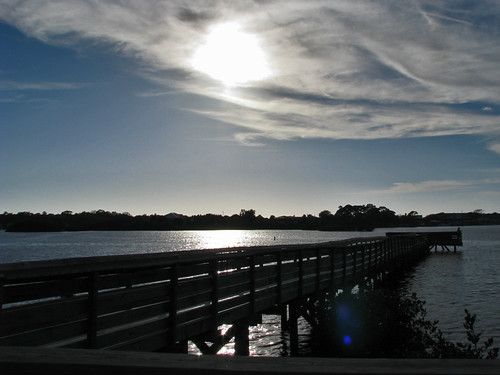 sunset sky sun gulfofmexico nature water clouds pier dock florida lensflare fl fishingpier waterfrontpark portrichey pascocounty