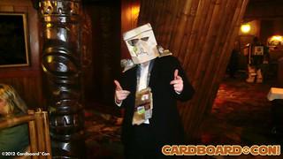 Cardboard Captain Drew Plays Host