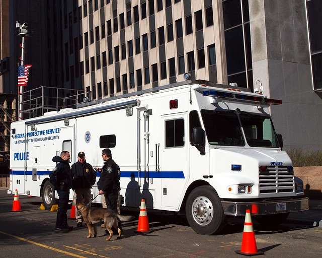 Federal Protective Service Mobile Command Center Truck, Lower Manhattan, New York City