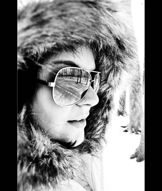Sunglasses Reflection (B&W Version)