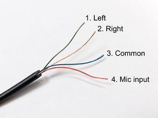 Headset wiring