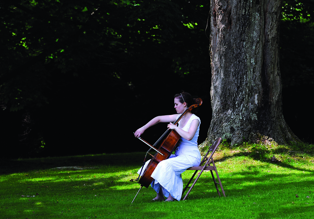 Cellist at Tanglewood, Lenox, Credit: Stu Rosner