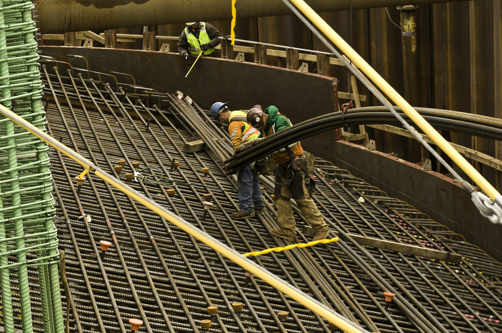 Construction Of The Pile Cap Rebar Framing Construction Cr Flickr
