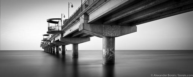 Baltic Sea - pier in Międzyzdroje (Misdroy) on the island of Wolin (Poland) / Seebrücke in Misdroy (Polen)