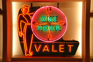 One hour valet neon sign -- Kalamazoo Valley Museum 055   Flickr