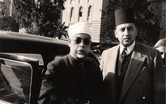 مع د.عبد الله دراز في المطار - 1953