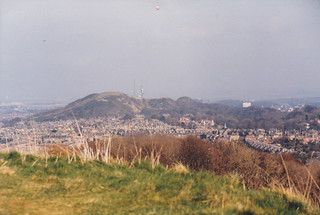 looking over to Blackford Hill from Craiglockhart Hill, April 1988 | by alljengi