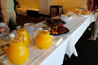 Continental breakfast in the reception area of the twenty-second floor of the Capitol during Guardian ad Litem Day on February 9, 2012 in Tallahassee, Florida. | by flguardian2