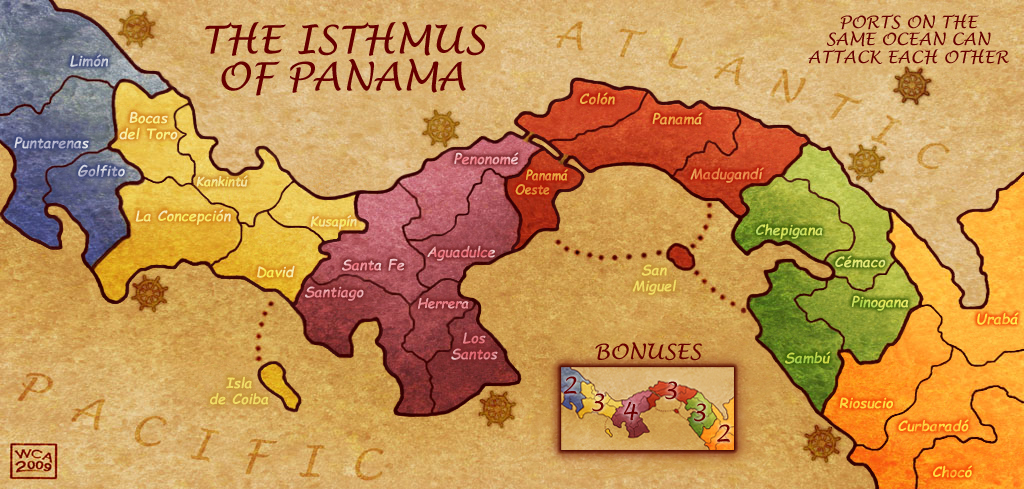 The Isthmus of Panama | Territories: 28, Regions: 6 Good 2-5 ...
