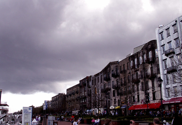 Brooding over River Street