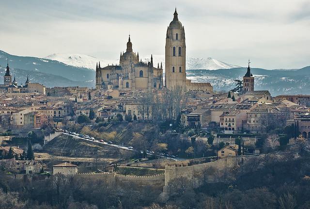 La Dama de las Catedrales desde el mirador de Zamarramala (Segovia)