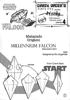 Millennium Falcon origami diagram 1 | by Matayado-titi