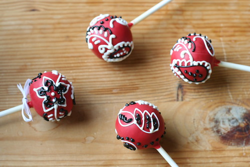Red Bandana Cake Pops See More Of Our Cake Pop Designs