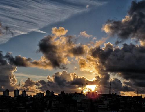 sunset pordosol brazil sky sun sol brasil clouds canon tramonto nuvole silhouettes bahia nuvens salvador