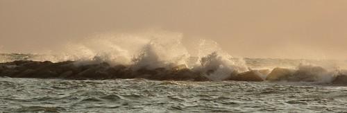 sea sky water clouds sunrise foam limassol sunsrise