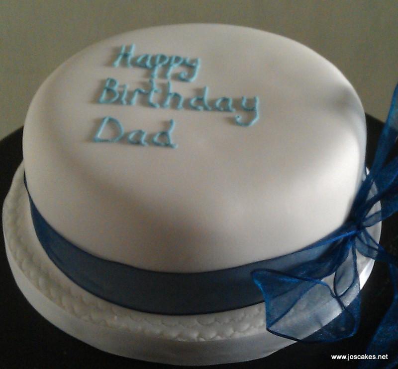 Brilliant Plain Iced Birthday Cake Simple Plain Iced Birthday Cake W Flickr Personalised Birthday Cards Akebfashionlily Jamesorg