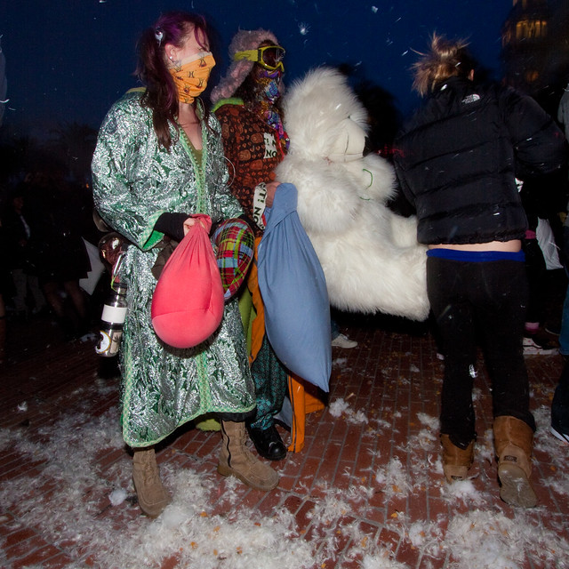 Valentines Day Pillow Fight 2012: teddy