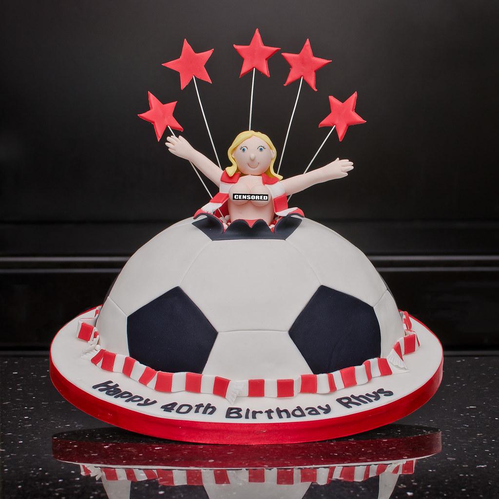 Groovy Barnsley Football Club Stripper Cake I Sincerely Hope No O Flickr Funny Birthday Cards Online Elaedamsfinfo