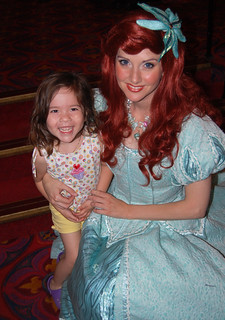 So happy to meet her favorite princess, Ariel! | by MrsMarianaP