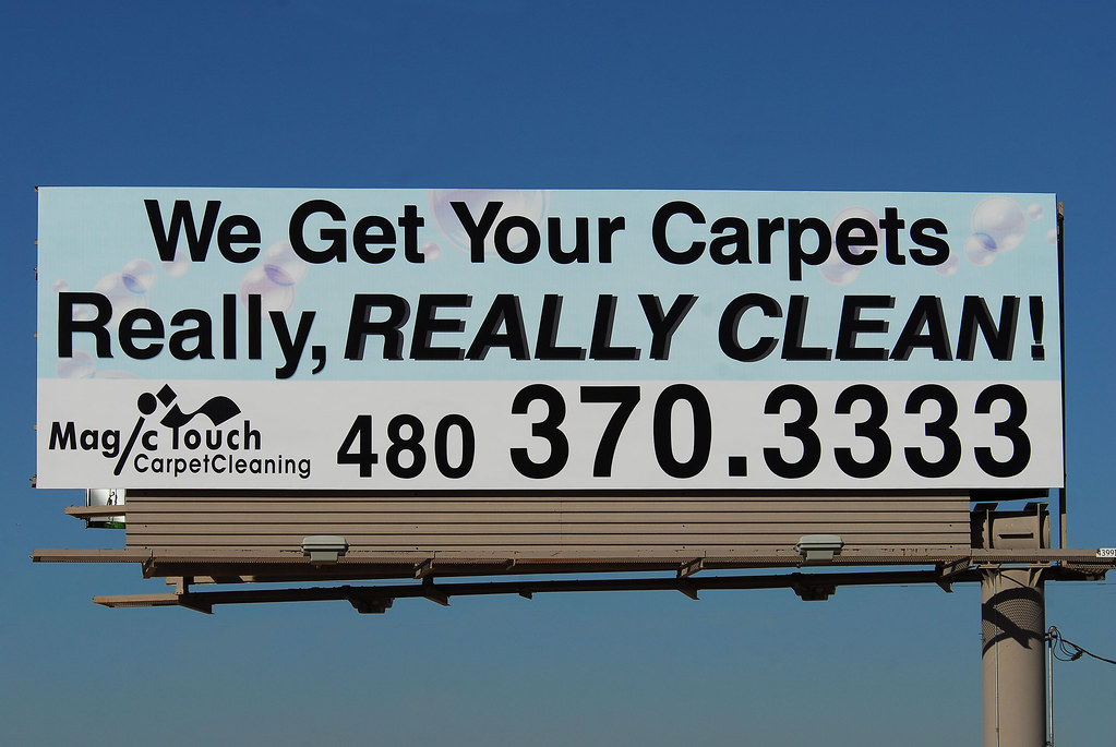 Magic Touch Carpet Cleaning Billboard Santan Freeway Loo
