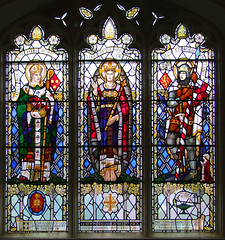 Christ in Majesty flanked by St Nicholas and St George