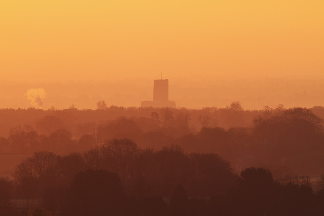 Guildford Cathedral from Hog's Back