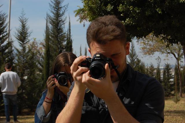 Un par de fótógrafos