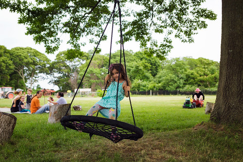 Violet on swing | by Philip DiResta