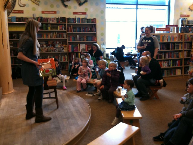 Storytime at the bookstore