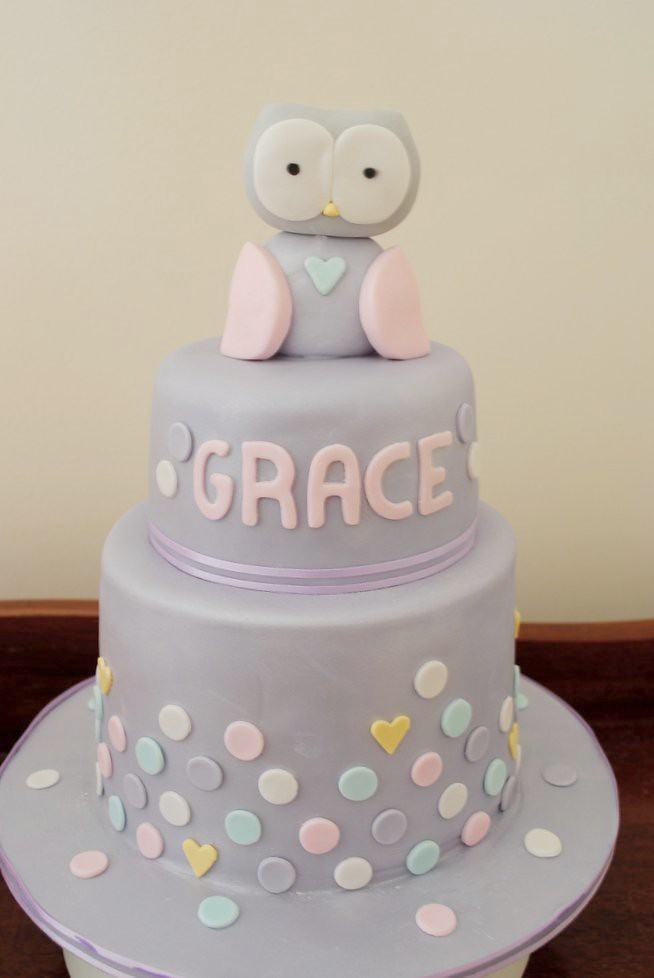 Astounding 1St Birthday Twin Owl Cakes Claire Elisa Flickr Personalised Birthday Cards Akebfashionlily Jamesorg