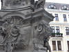 Teplice – Zámecké náměstí, detail morového sloupu, foto: Petr Nejedlý