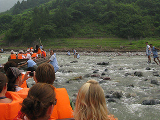 Sampans being dragged through rapids - Shennong Stream | by retrotraveller