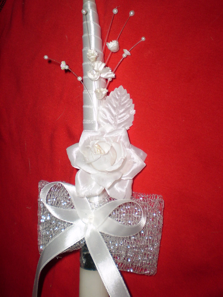 First Holy Communion Decorated Candle Gracie Monteiro Flickr