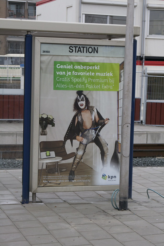 Gene Simmons Bus Stop Ad (Holland - 2012) | *Photo by MJG196