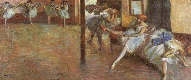 [ D ] Edgar Degas - Ballet Rehearsal (1891)