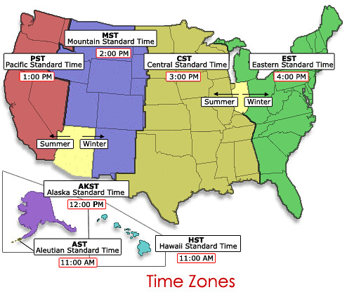 Time Zone Map | What time zone do YOU live in? (If your allo ...