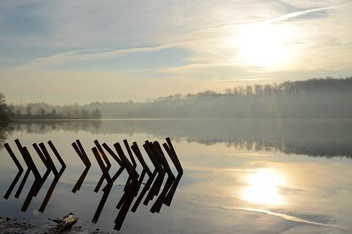 park lake sunrise nikon state pennsylvania reservoir pa marshcreek d7000