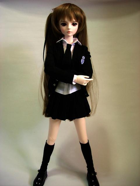 BJD D.O.D. D.O.T. E-an, Photo Shoot / Photo Edited 20120228 - 01, Seifuku(制服) / School Uniform Outfit - 01