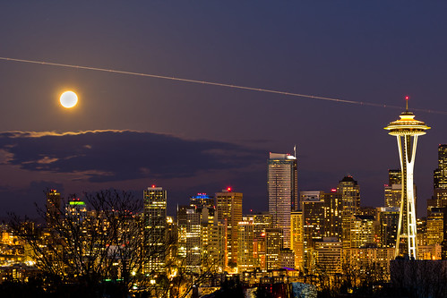 Super Moon over Seattle | by JR Bad Habit