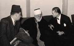 امجد الزهاوي و جواد الشهرستاني و الاميري - فندق القلعة - 2 كانون الأول 1953