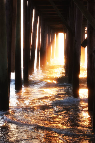 ocean morning sun sunlight water sunrise dawn pier maryland oceancity wavesmarylandoceancityvacation