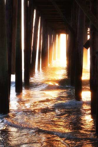 ocean morning sun sunlight water sunrise dawn pier maryland oceancity wavesmarylandoceancityvacation