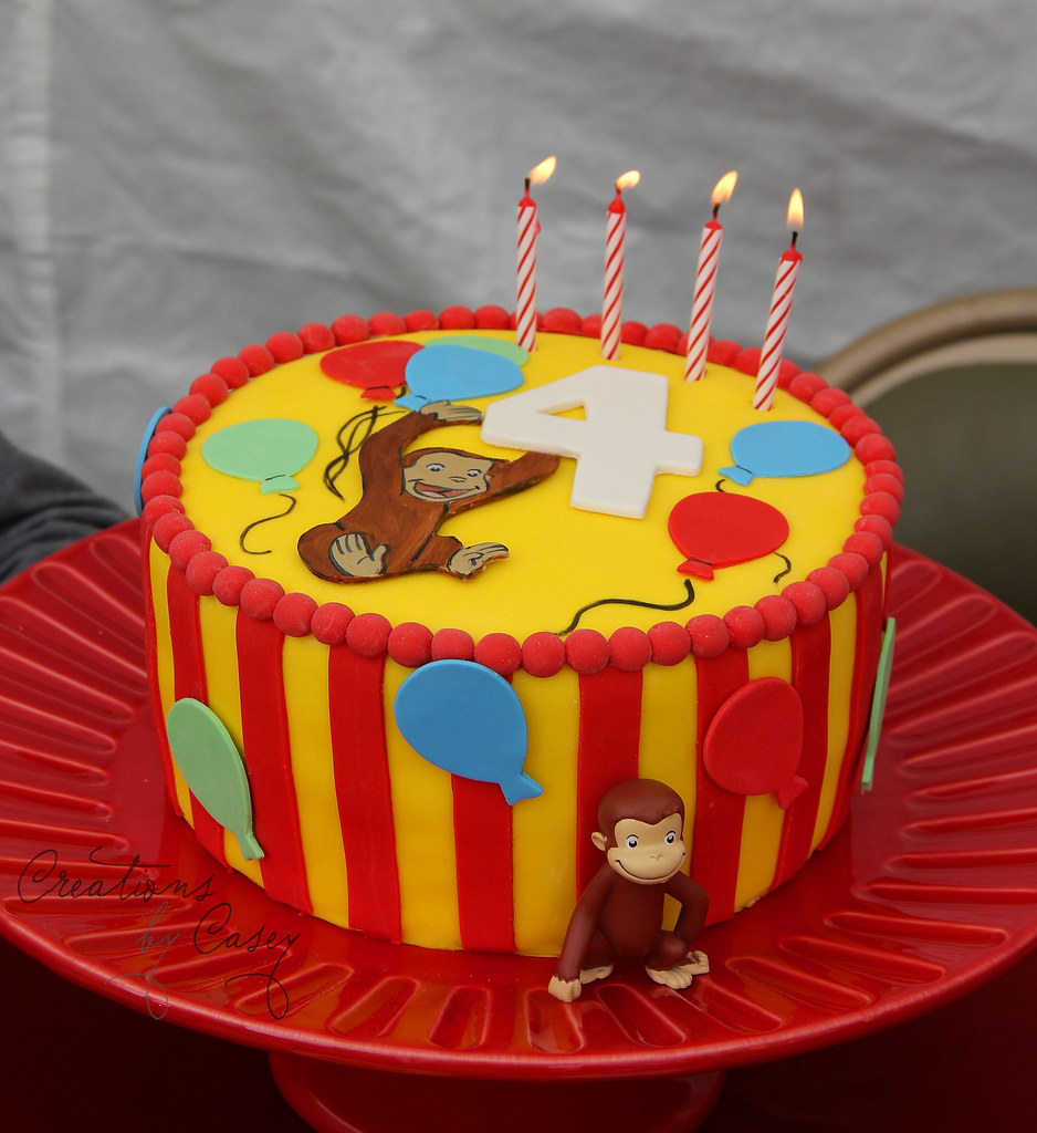 Admirable Curious George Birthday Cake Believe It Or Not We Never U Flickr Personalised Birthday Cards Beptaeletsinfo