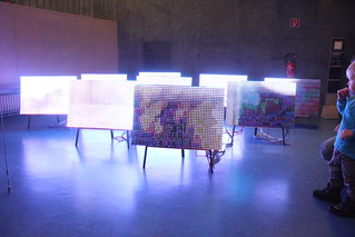 Transmediale - LED PH16 /1R1G1B by JODI   by Rosa Menkman