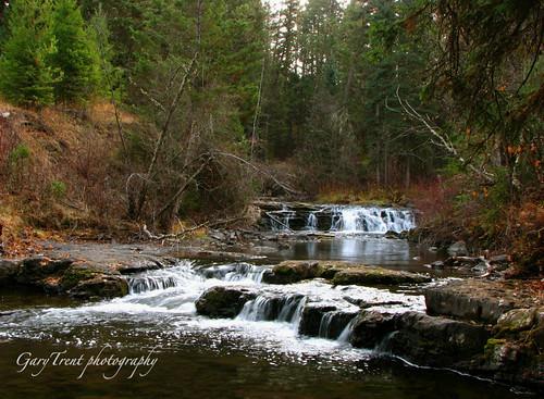 river landscape waterfall